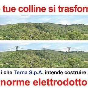 Progetto di elettrodotto sui monti del Chianti