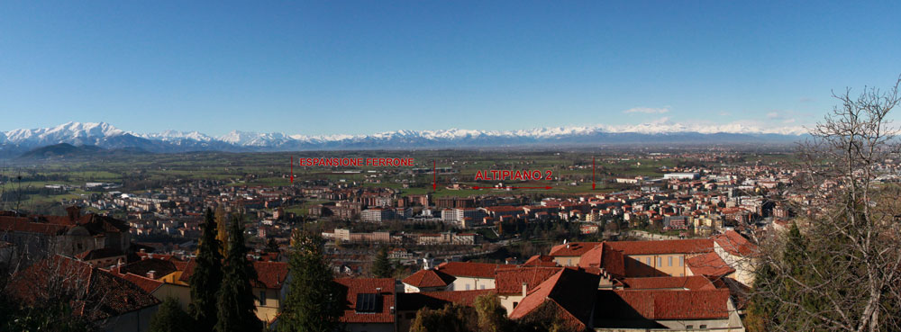 Panoramica zona Mondovì (CN), zona Altipiano