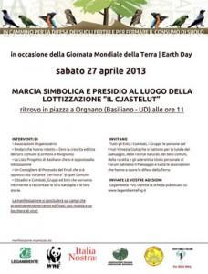 Il programma della marcia per la terra in Friuli