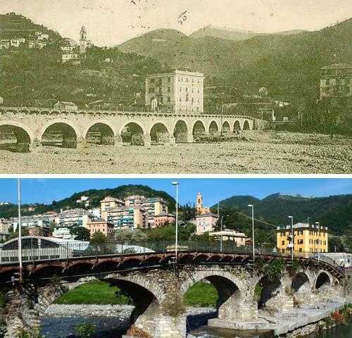 Ponte Carrega ieri e oggi