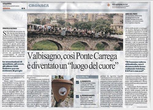 Repubblica 6 agosto 2013