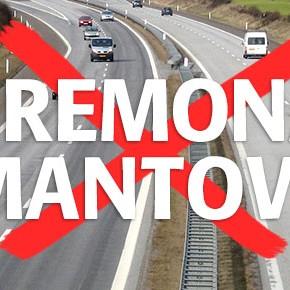 Richiesta di moratoria per l'autostrada Cremona-Mantova