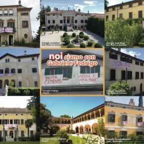 Negrar (Verona): lo scrittore Gabriele Fedrigo multato per uno striscione contro il cemento. In sua difesa i proprietari delle Ville Venete.