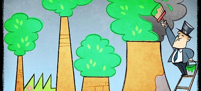 Greenwashing © Cartoon Movement