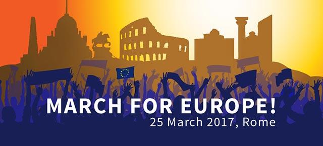 Roma, 25 Marzo 2017: marcia internazionale per l'Europa!