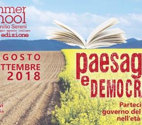 Summer school Emilio Sereni, X Edizione: 28 agosto – 2 settembre 2018