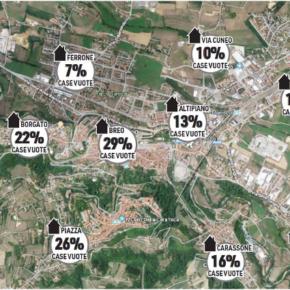 Mondovì: la mappa delle case vuote