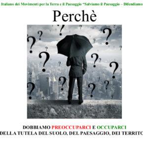 Consumo di suolo in Italia e le nostre proposte per arrestarlo