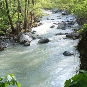 Una centrale idroelettrica lungo il torrente Frido