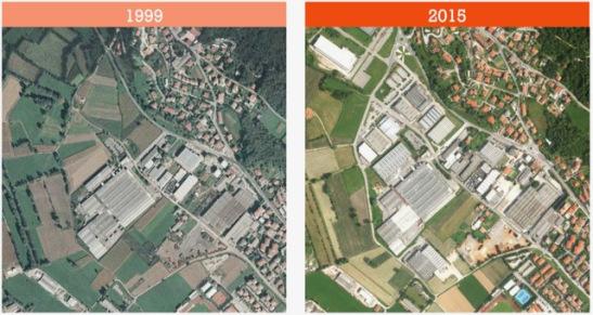 Il consumo di suolo nel Veneto