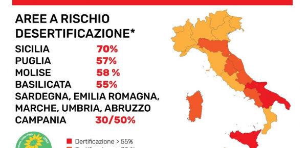 Italia, paese di incendi e desertificazione crescente